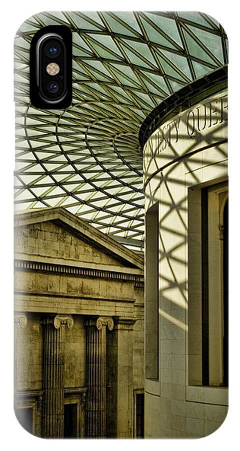 British Museum IPhone X Case featuring the photograph British Museum by Heather Applegate