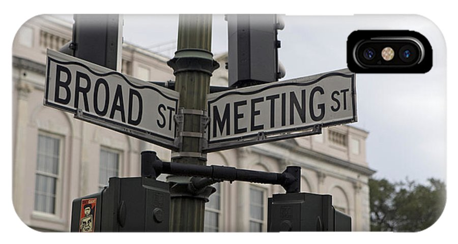 Broad Street IPhone X Case featuring the photograph Broad Street And Meeting Street Charleston South Carolina by Jason O Watson