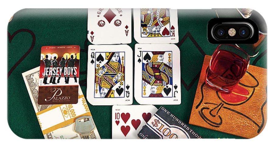 Pictures IPhone X / XS Case featuring the photograph Broadway Poker Hand by John Rizzuto