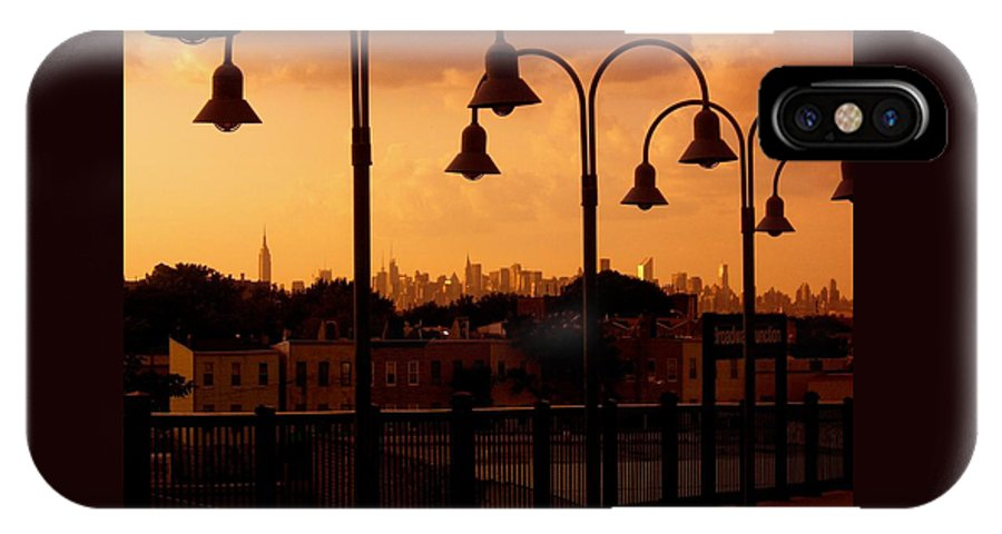Iphone Cover Cases IPhone X Case featuring the photograph Broadway Junction In Brooklyn, New York by Monique's Fine Art