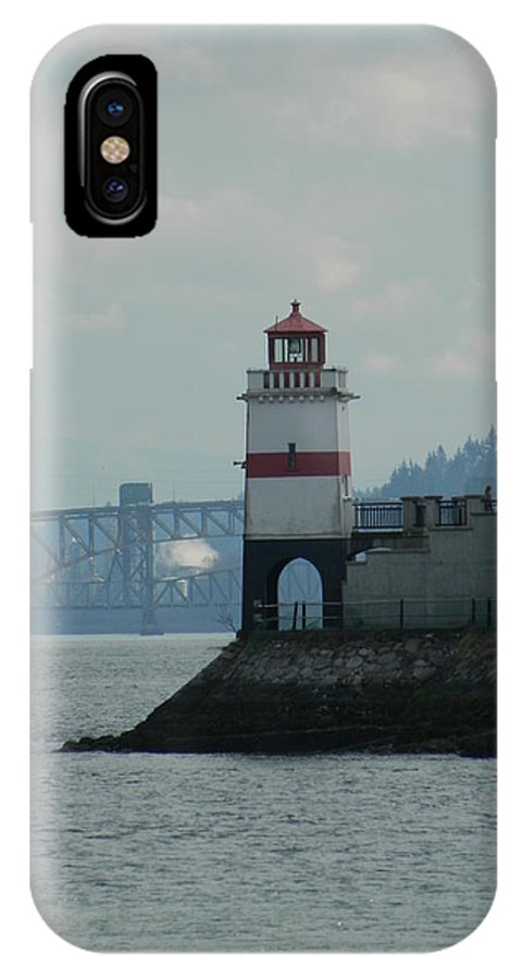 Brockton. Point IPhone X Case featuring the photograph Brockton Point Lighthouse by Nicki Bennett