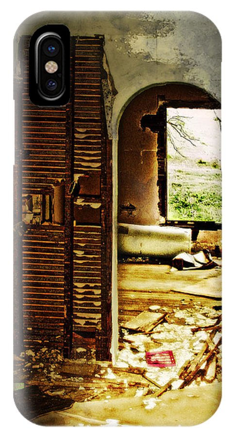 Abandoned IPhone X / XS Case featuring the photograph Broken Home by John Anderson