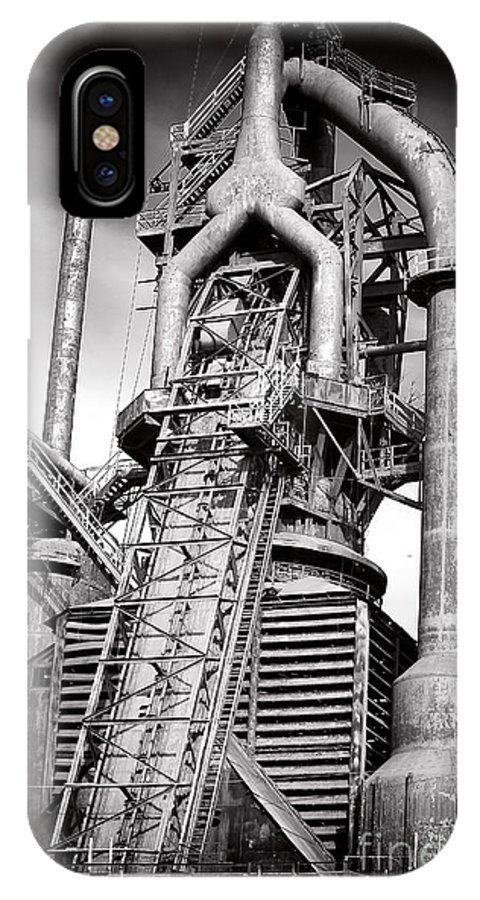 Broken Promises IPhone X Case featuring the photograph Broken Promises At Bethlehem Steel by John Rizzuto