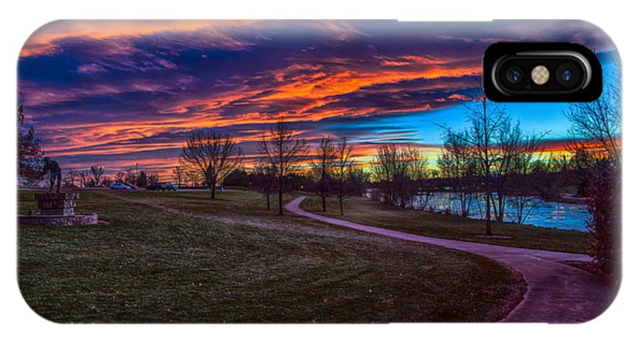 Landscape IPhone X / XS Case featuring the photograph Bronco Sunset by Dick Knapp