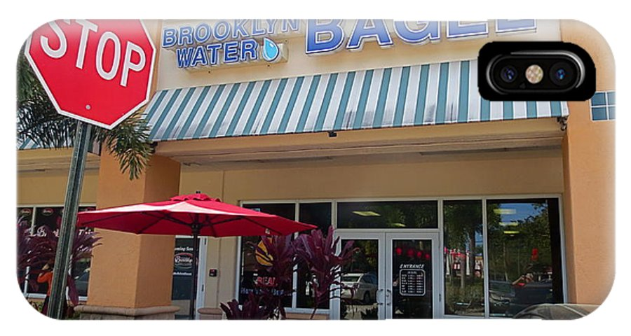 Brooklyn Bagel Restaurant In Delray Beach. Florida. IPhone X Case featuring the photograph Brooklyn Bagel Restaurant In Delray Beach. Florida. by Robert Birkenes