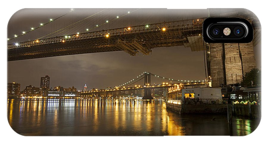 Landscape IPhone X Case featuring the photograph Brooklyn Bridge by Boris Blyumberg