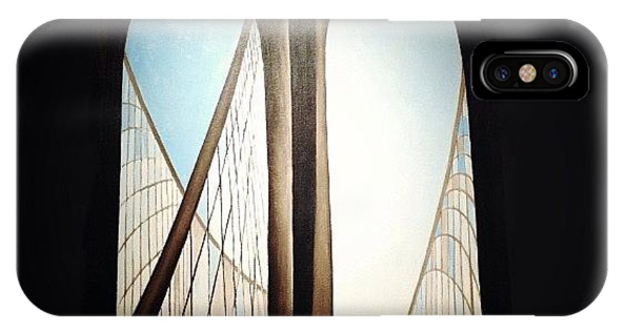 IPhone X Case featuring the photograph 'brooklyn Bridge' By Georgia by Natasha Marco
