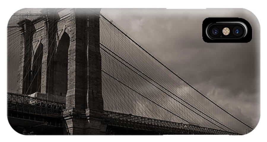 Brooklyn Bridge IPhone X Case featuring the photograph Brooklyn Bridge by Gary Deck