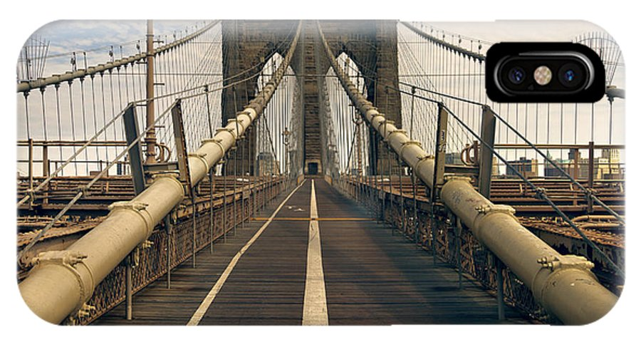 Brooklyn IPhone X Case featuring the photograph Brooklyn Bridge by Istvan Kadar