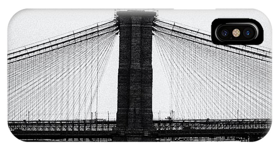 Newyork IPhone X Case featuring the photograph Brooklyn Bridge Profile by Steph Ball