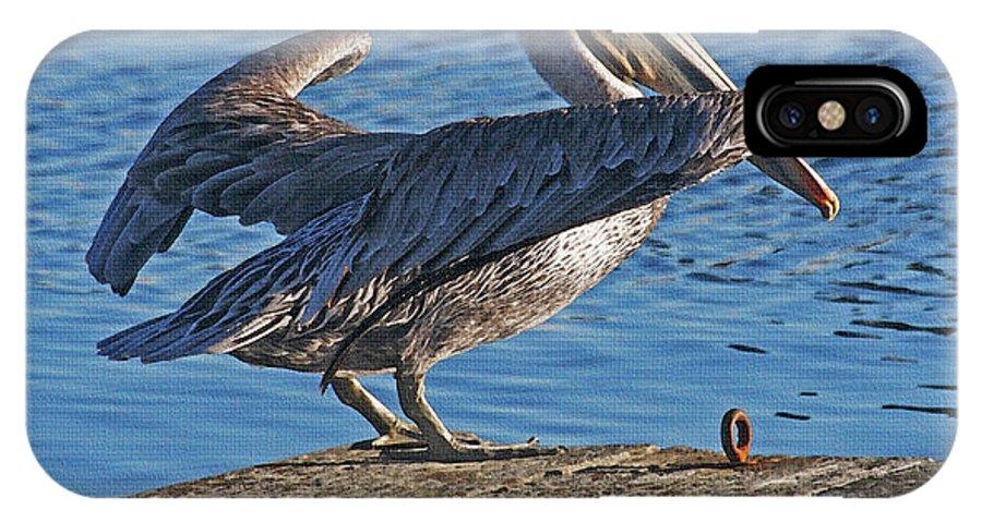 Brown Pelican Take Flight IPhone X Case featuring the photograph Brown Pelican Takes Flight by Tom Janca