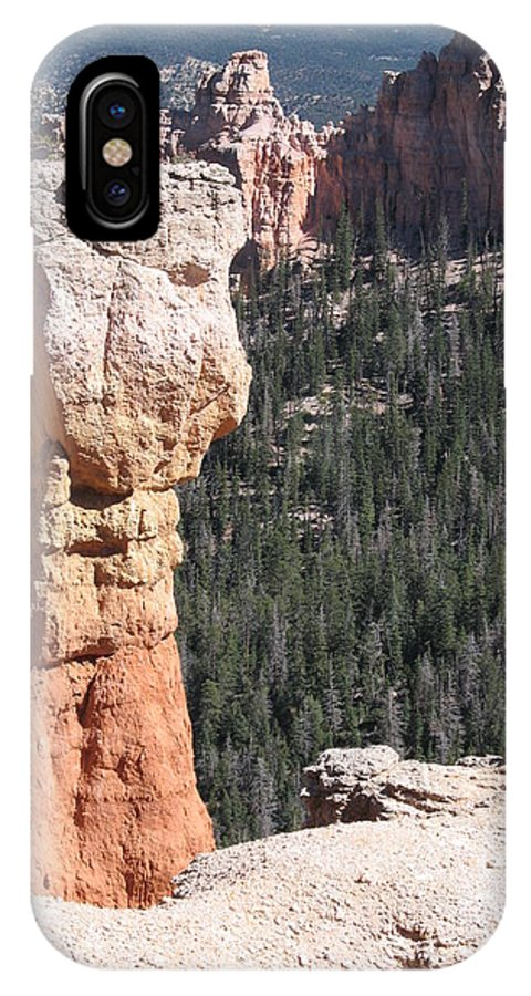 Canyon IPhone X Case featuring the photograph Interesting Bryce Canyon Rockformation by Christiane Schulze Art And Photography