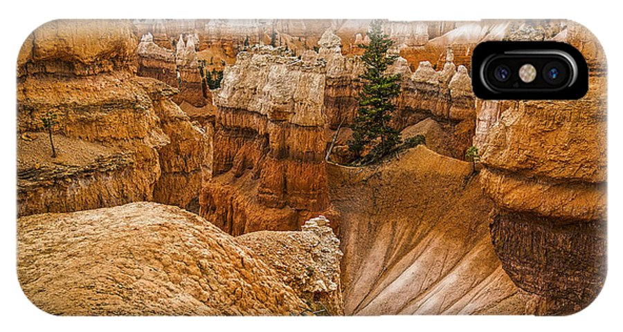 Landscape Wall Art Room Decoration IPhone X Case featuring the photograph Bryce Zion Landscape by William Lax