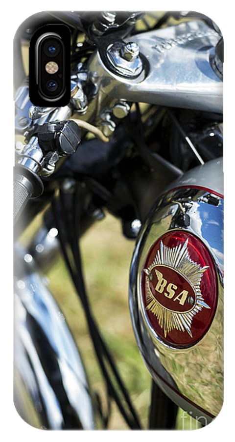 Bsa IPhone X Case featuring the photograph Bsa Rocket Gold Star Motorcycle by Tim Gainey