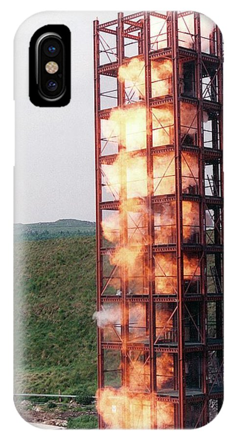 Explosion IPhone X Case featuring the photograph Bucket Elevator Dust Explosion by Crown Copyright/health & Safety Laboratory Science Photo Library