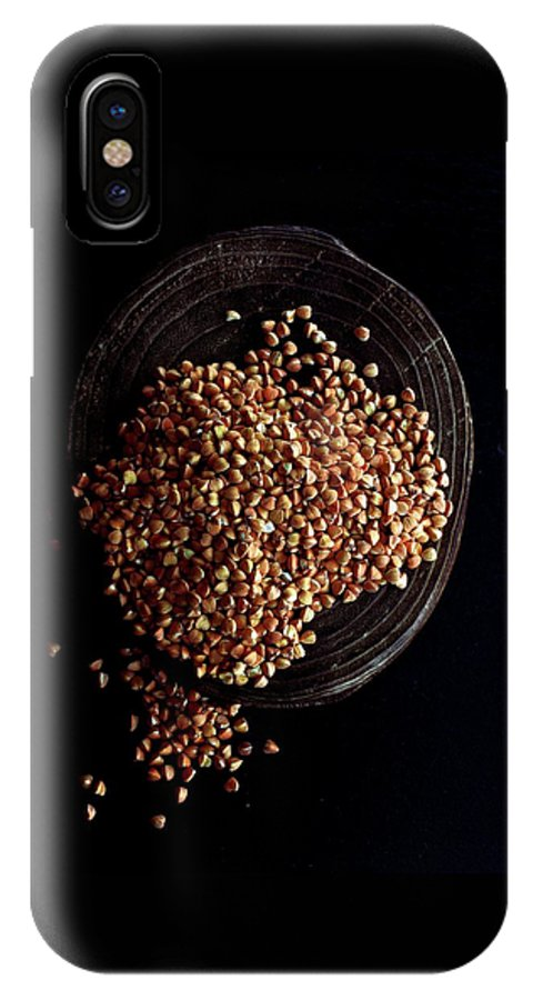 Grains IPhone X Case featuring the photograph Buckwheat Grouts by Romulo Yanes