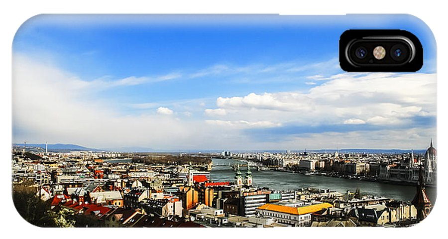 Travel IPhone X Case featuring the photograph Budapest And Blue Danube by Elvis Vaughn