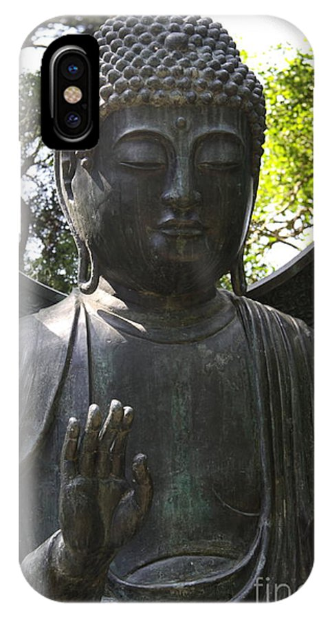 Buddhas Hand IPhone X Case featuring the photograph Buddha Detail by Christiane Schulze Art And Photography