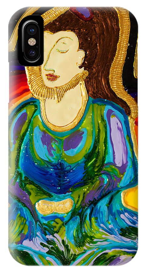 Impressionism IPhone X Case featuring the painting Buddha IIi by Christi Klema