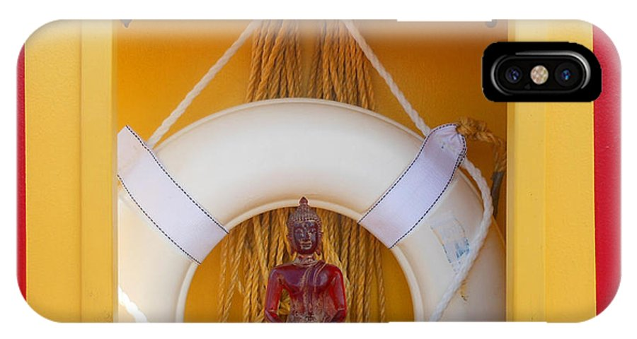 Buddha IPhone X Case featuring the photograph Buddha On Vacation 1 by Sherry Dooley