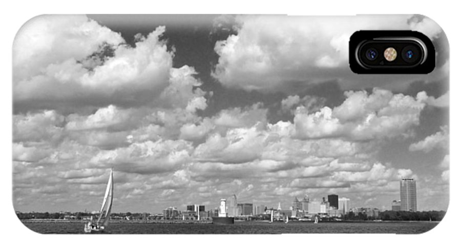 Buffalo IPhone X / XS Case featuring the photograph Buffalo Skyline by Cindy Haggerty
