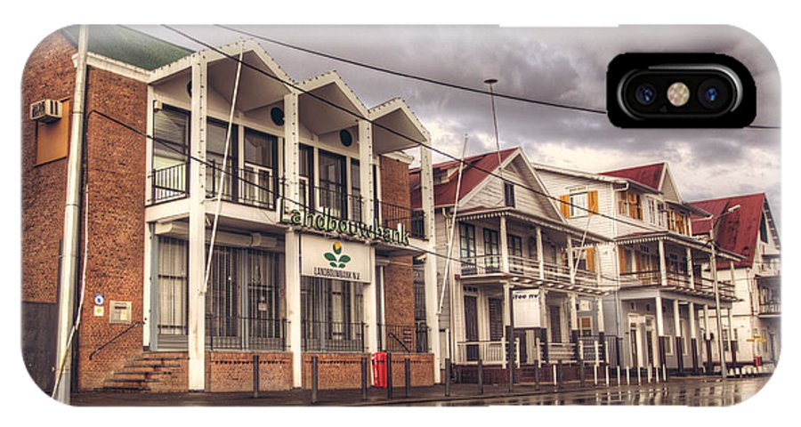 Landscape IPhone X Case featuring the photograph Buildings In Paramaribo by Lionel Emanuelson