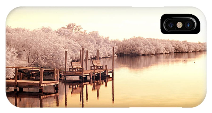 Near IPhone X Case featuring the photograph Bull Frog Creek Gibsonton Fl Usa Near Infrared by Sally Rockefeller