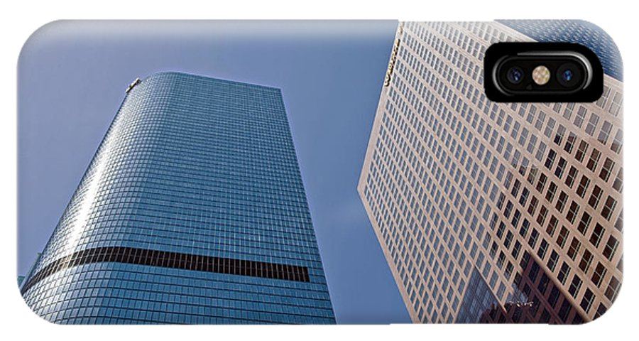Bunker Hill IPhone X Case featuring the photograph Bunker Hill Financial District California Plaza by David Zanzinger