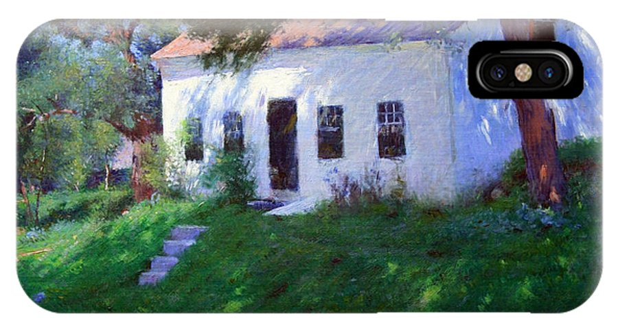 Roadside Cottage IPhone X Case featuring the photograph Bunker's Roadside Cottage by Cora Wandel