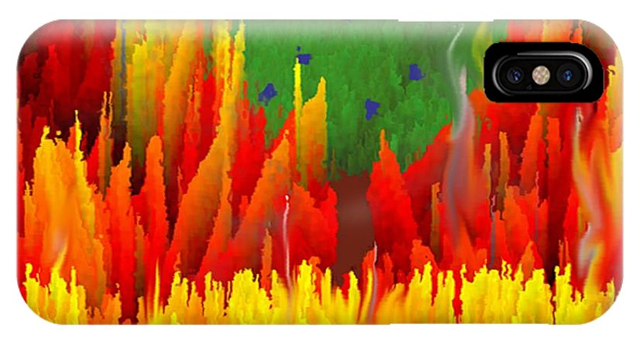 Religion IPhone X Case featuring the digital art Burning Bush by Dr Loifer Vladimir