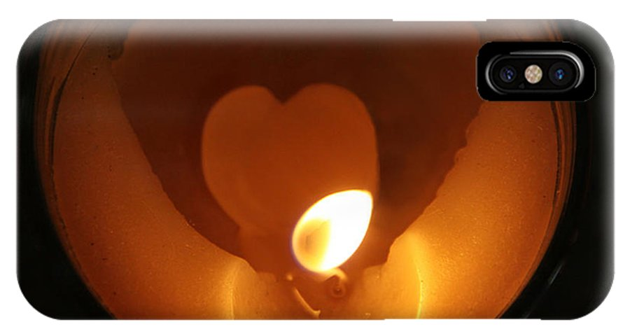 Flame IPhone X Case featuring the photograph Burning Love by Rhonda Burger