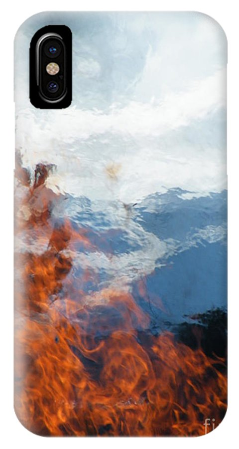 Burning IPhone X Case featuring the photograph Burning The Winter Blues Away by Brian Boyle
