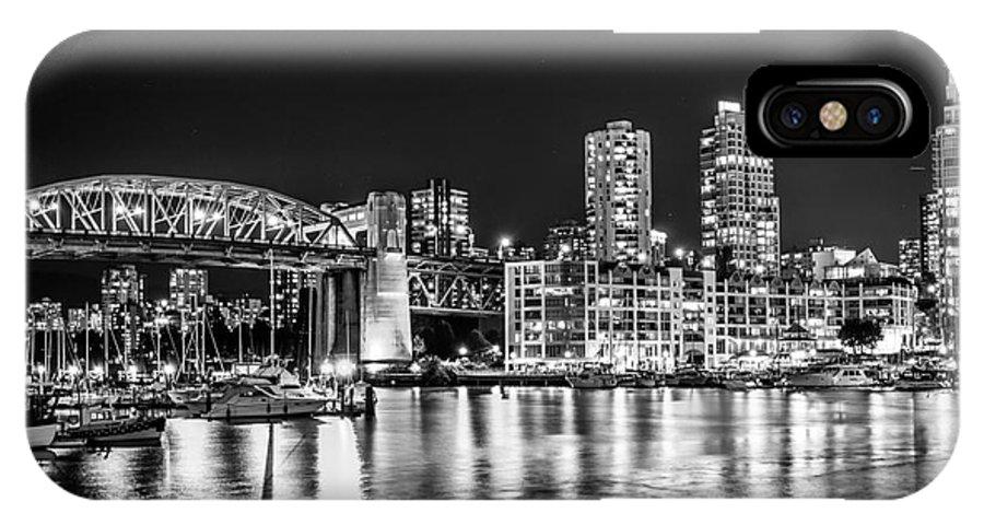 Burrard Bridge IPhone X Case featuring the photograph Burrard Bridge At Night by Sabine Edrissi