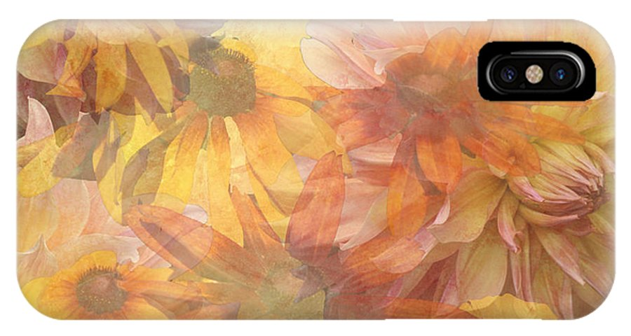 Daisies IPhone X Case featuring the digital art Burst Of Spring by Donna Walsh