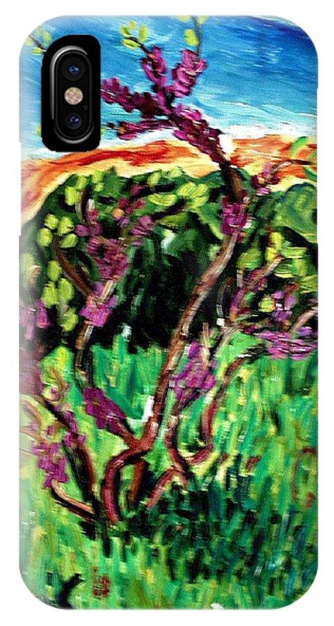 Bush IPhone X Case featuring the painting Bush by Vladimir A Shvartsman