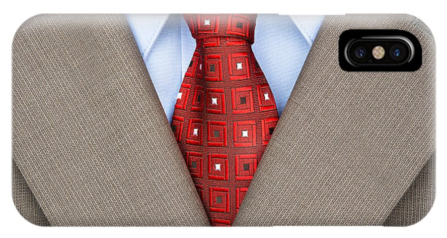 Suit IPhone X Case featuring the photograph Business Suit by Joe Belanger