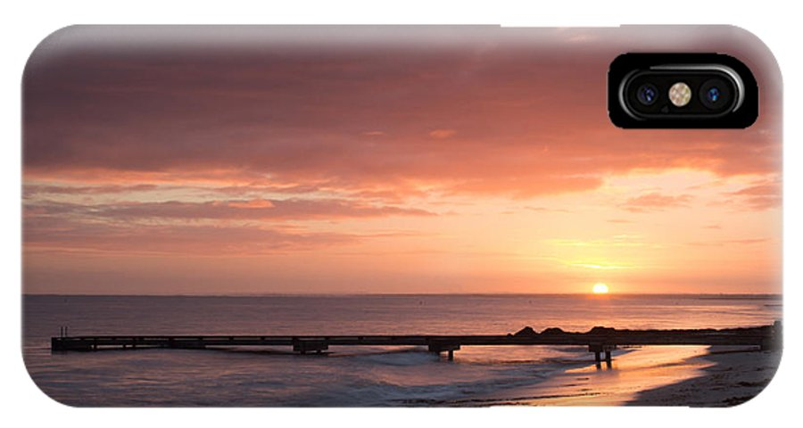 Sunrise IPhone X Case featuring the photograph Busselton Sunrise by Robert Caddy