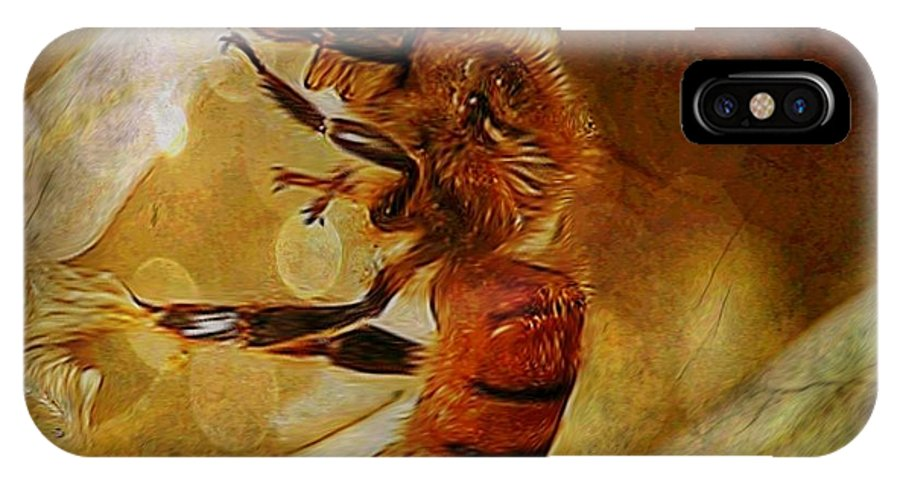 Bee IPhone X Case featuring the photograph Busy Bee by Ben Yassa