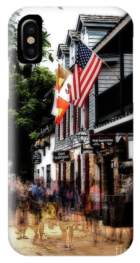 St IPhone X Case featuring the photograph Busy St George Street by Brian Druggan