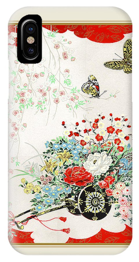 Butterfly Banquest IPhone X Case featuring the painting Butterfly Banquest by Santi Arts
