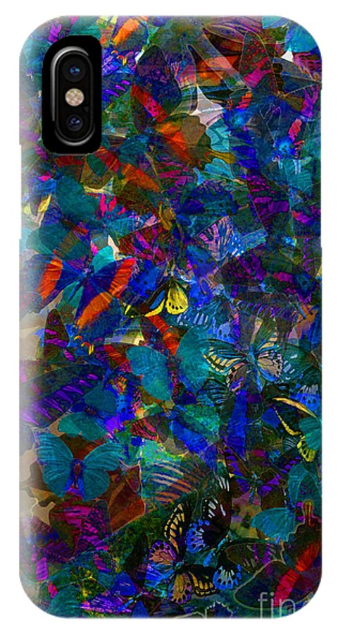 Butterflys IPhone X Case featuring the photograph Butterfly Collage Blue by Robert Meanor