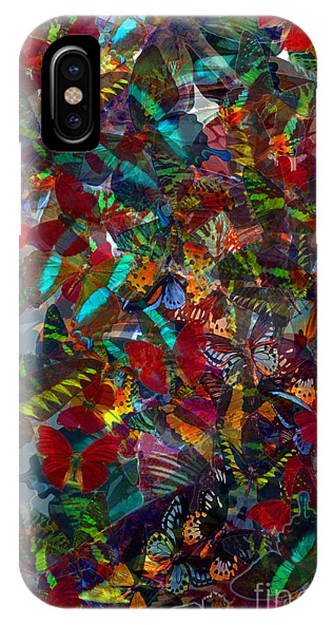 Butterflys IPhone X Case featuring the photograph Butterfly Collage Red by Robert Meanor