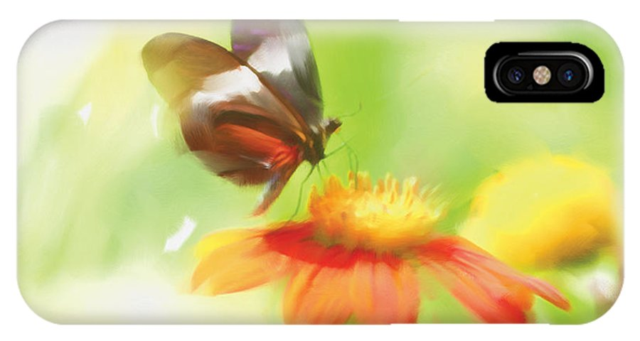 Butterfly IPhone X Case featuring the painting Butterfly Digital Painting by Michelle Wiarda-Constantine