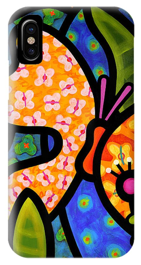 Butterfly IPhone X Case featuring the painting Butterfly Jungle by Steven Scott