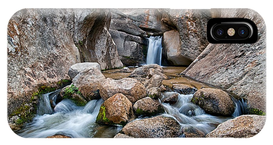 Waterfall IPhone X Case featuring the photograph Buttermilks Waterfall by Cat Connor