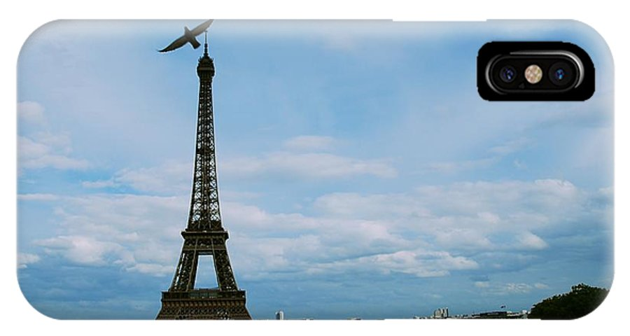 Eiffel Tower IPhone X Case featuring the photograph Buzzing The Tower by Eric Tressler
