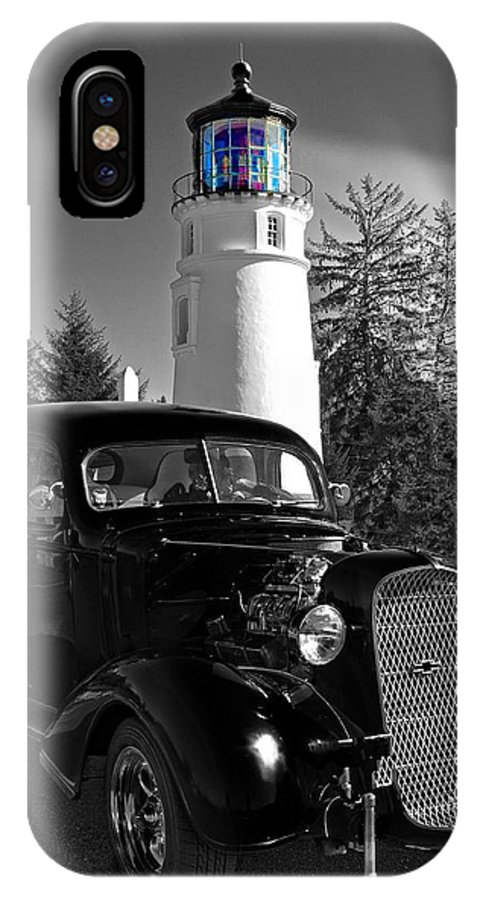 Umpqua Lighthouse IPhone X Case featuring the photograph By The Light by Image Takers Photography LLC