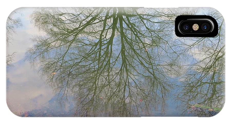 Tree IPhone X Case featuring the photograph C And O Canal Tree Reflection by Rrrose Pix