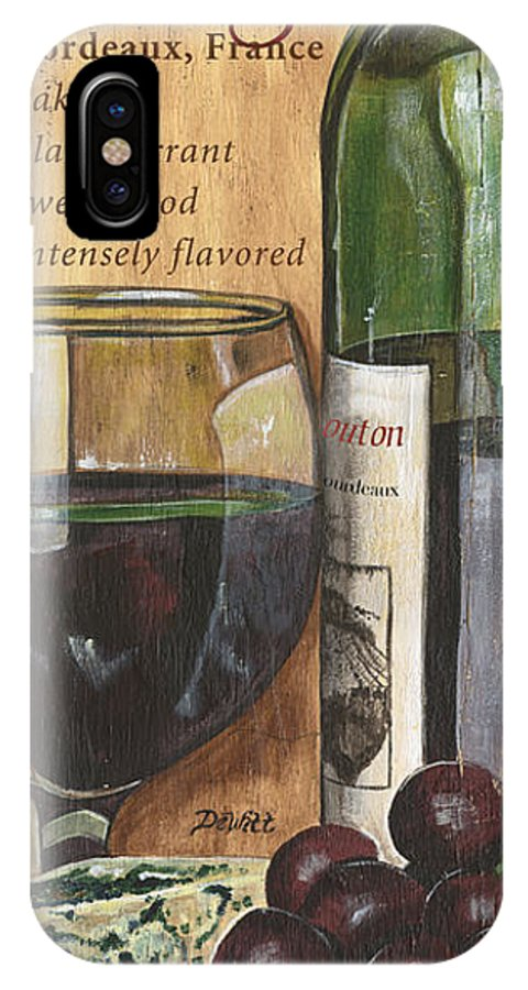 Cabernet IPhone X Case featuring the painting Cabernet Sauvignon by Debbie DeWitt