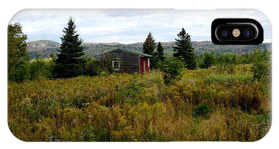 Cabin IPhone X Case featuring the photograph Cabin In Northern Minnesota by Lois Handel